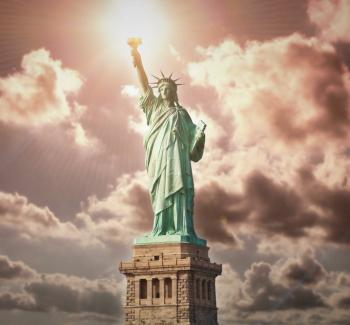 Statue of Liberty - God Bless America